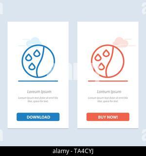 Konditionierung der Haare, Haare, Haare Therapie Behandlung Blau und Rot Jetzt herunterladen und Web Widget Karte Vorlage kaufen - Stockfoto