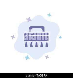 Pinsel, Reinigung, Set blau Symbol auf abstrakte Cloud Hintergrund - Stockfoto