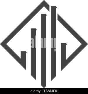 Gebäude Symbol Vektor illustration Design Template - Stockfoto