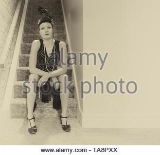 Flapper sitzen - Stockfoto