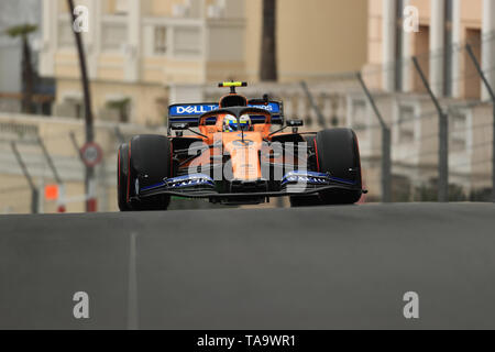 Monte Carlo, Monaco. 23 Mai, 2019. F1 Grand Prix von Monte Carlo, Freie Praxis, McLaren, Lando Norris Credit: Aktion plus Sport/Alamy leben Nachrichten