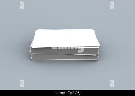 3D-Rendering von leeren weißen Business Card oder Card besuchen Mock up Vorlage für Ihr Design. - Stockfoto