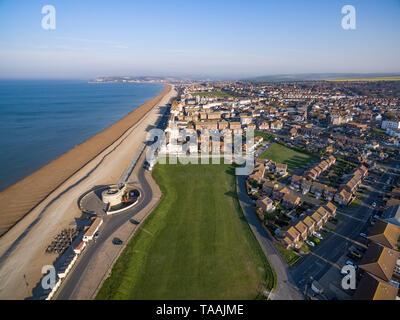 Luftaufnahmen von Seaford, East Sussex, Großbritannien - Stockfoto