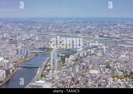 Tokio Luftaufnahme in Japan - Stockfoto