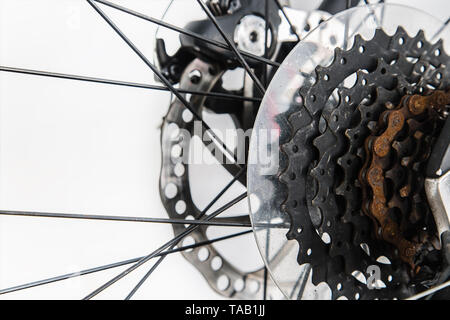 Umwerfer Mountainbike anzeigen - Stockfoto