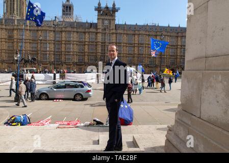 Matthew Elliott ist ein britischer politischer Stratege und Lobbyist beteiligt - mit. Dominic Cummings - in der Brexit Kampagne. - Stockfoto