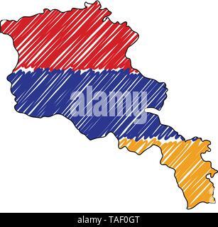 Armenien Karte Stockfotografie Alamy