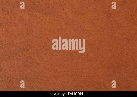 Makroaufnahme von Luxus braun Leder Textur. Hochauflösendes Foto. - Stockfoto