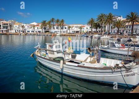 Hafen von Fornells, Menorca, Balearen, Spanien - Stockfoto
