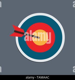 Ziel mit Pfeil Vector Illustration - Stockfoto