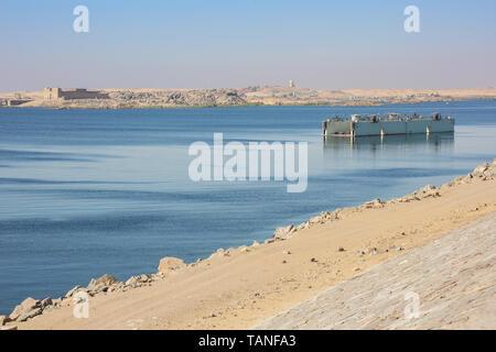 Lake Nasser und den Tempel des Beit-El-Wali in der Nähe von Aswan - Stockfoto