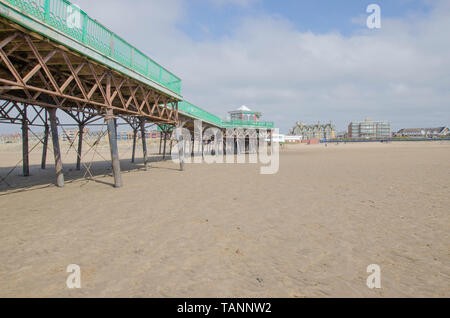 Am Strand in St Annes, in der Nähe von Blackpool. - Stockfoto