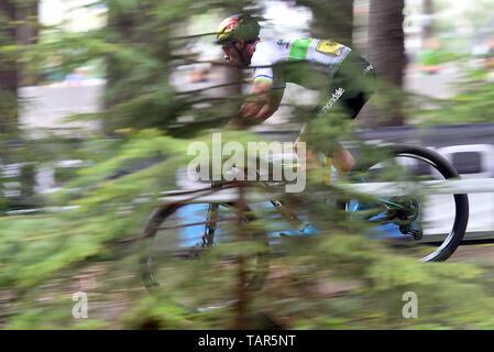 HENRIQUE PIEPER aus Brasilien in Aktion während der Männer elite Cross Country Mountainbike Weltcup in Nové Město na Moravě, Tschechische Republik, 26. Mai 2019. (CTK Photo/Lubos Pavlicek) - Stockfoto
