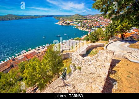 Stadt Sibenik, Dalmatien region Küste von Kroatien - Stockfoto
