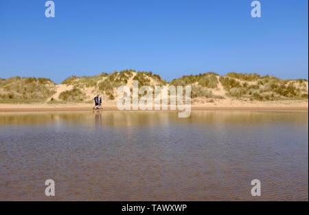 Sanddünen am Strand von Wells-next-the-Sea, Norfolk, England - Stockfoto