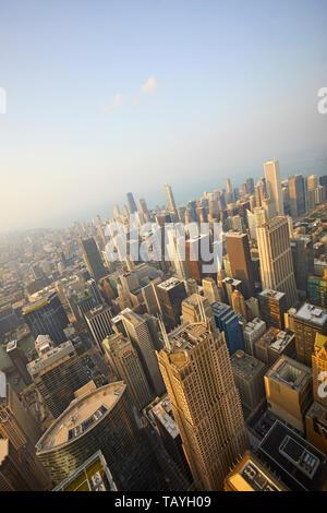 Blick auf Chicago von Skydeck, Chicago, Illinois, United States gesehen Erhöhte