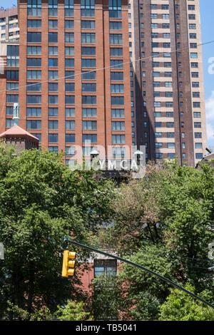 West Side YMCA, 5W 63rd St, wie dem Central Park, New York, NY, USA - Stockfoto