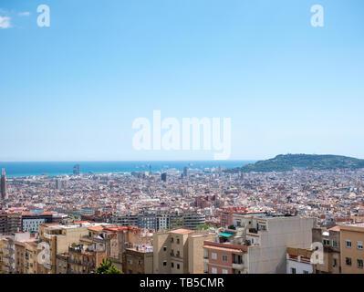 Stadtbild Blick der Stadt Barcelona, Spanien. - Stockfoto
