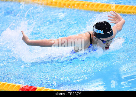 Tokio, Japan. Credit: MATSUO. 1. Juni 2019. Sao Yokota Schwimmen: Japan Open 2019 Damen 200 m Individuelle Medley Wärme bei Tatsumi International Swimming Center in Tokio, Japan. Credit: MATSUO. K/LBA SPORT/Alamy leben Nachrichten - Stockfoto