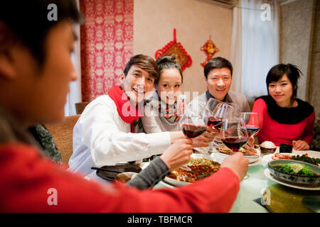 Abendessen im Restaurant. - Stockfoto