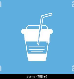 Kaffeebecher sign-kalten Kaffee Tasse Symbol - Stockfoto