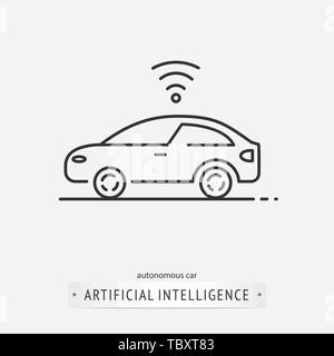 Künstliche Intelligenz Icon Design - Stockfoto