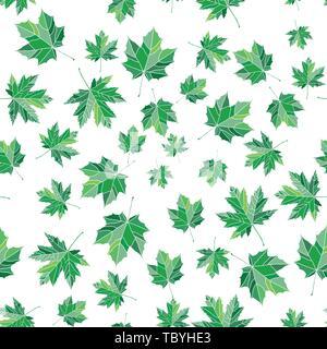 Nahtlose bunte maple leaf pattern. Natur Textur für Hintergründe und Dekorationen. - Stockfoto