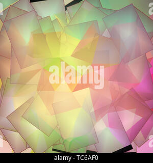 Multi hued Lebendige Hintergrund. 3D-Rendering - Stockfoto