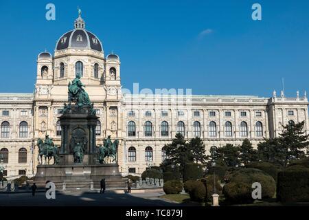 Maria Theresien Platz und Naturhistorisches Museum, Wien. - Stockfoto