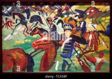 '''Husaren auf einem Sortie'', 1913, August Macke, Thyssen Bornemisza Museum, Madrid, Spanien, Europa - Stockfoto