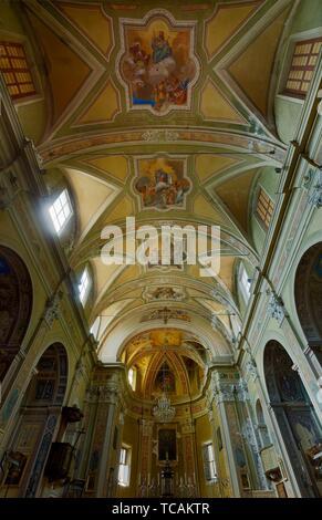 Der Pfarrei Sant'Agata wurde von San Carlo Borromeo 1556 gegründet, dann Erzbischof von Mailand und auf dem Gebiet des Alto Verbano abhing, - Stockfoto