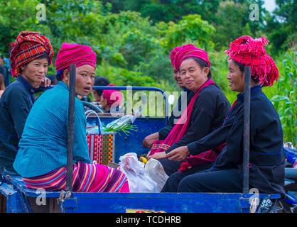 Pao Stamm Frauen im Shan Staat Myanmar - Stockfoto
