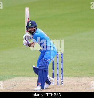 London, Großbritannien. 09 Juni, 2019. Virat Kohli von Indien batting während der ICC Cricket World Cup Match zwischen Indien und Australien, Am Kia Oval, London. Credit: Cal Sport Media/Alamy leben Nachrichten - Stockfoto