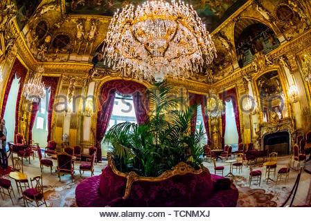 Grand Salon, Apartments, Napoleon III, Louvre, Paris, Frankreich. - Stockfoto