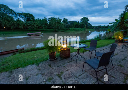 Landschaft des Flusses Ping Chiang Mai, Thailand - Stockfoto
