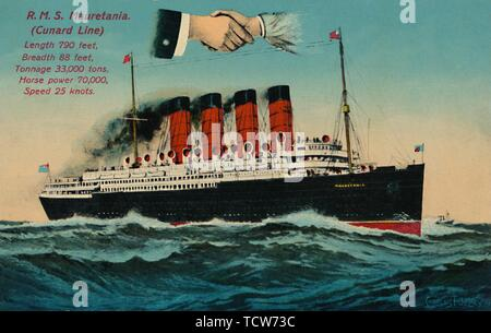 """""""R.M.S. Mauretanien. (Cunard Line)', c 1930. Schöpfer: Unbekannt. - Stockfoto"""