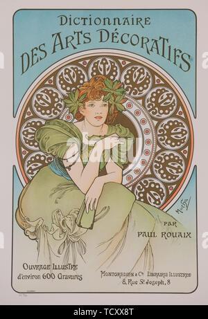 Wörterbuch des Arts Décoratifs, 1902. Schöpfer: Mucha, Alfons Maria (1860-1939). - Stockfoto