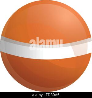 Braun Krocket ball-Symbol. Cartoon von Braun Krocket ball Vektor Symbol für Web Design auf weißem Hintergrund - Stockfoto