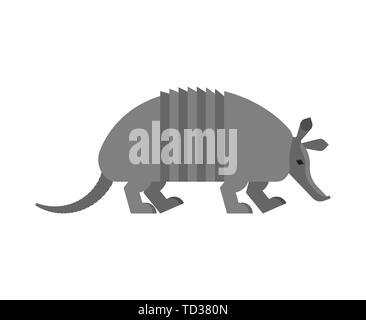 Armadillo isoliert. Tier 9-hip Armadillo Vector Illustration. - Stockfoto