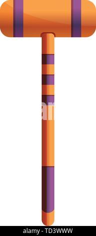 Croquet mallet Symbol. Cartoon von croquet Mallet vektor Symbol für Web Design auf weißem Hintergrund - Stockfoto