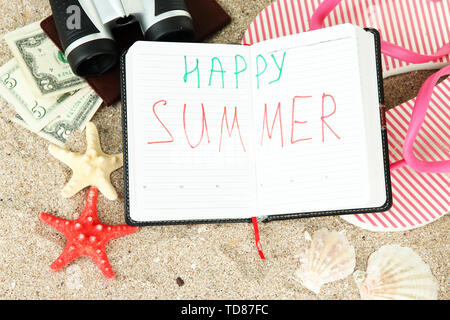 Konzeptionelle Bild der Sommerferien. - Stockfoto