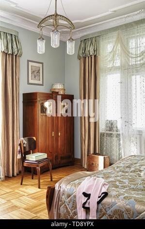Jugendstil Schlafzimmer Innenraum Im Musee De L Ecole De Nancy Nancy Lothringen Frankreich Europa Stockfotografie Alamy