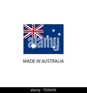 In Australien Schild mit National Flagge gemacht - Stockfoto