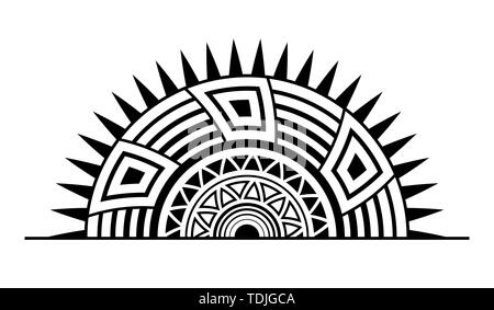 Vektor Sonne Ornament Tattoo Vektor Abbildung Bild