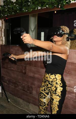 Miami, FL, USA. 16 Juni, 2019. Ashley Ariza am Hassan Whiteside 30. Geburtstag Party in Woodside Miami in Miami, Florida, am 16. Juni 2019. Credit: Walik Goshorn/Medien Punch/Alamy leben Nachrichten - Stockfoto