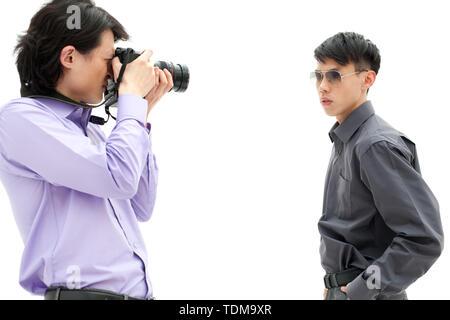 Modell schießen - Stockfoto