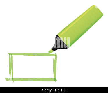 Grüner Neon Text marker - Stockfoto