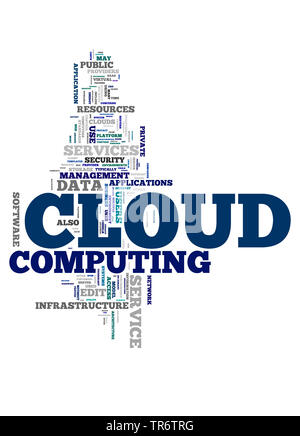 Tag Cloud auf das Thema Cloud Computing - Stockfoto