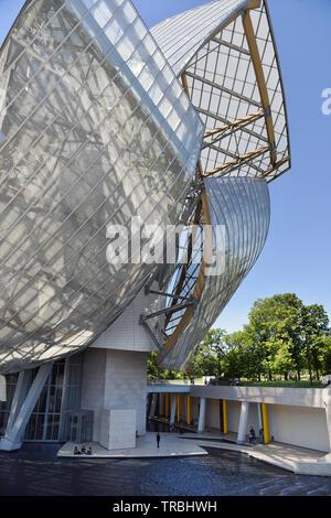 Fondation Louis Vuitton - Bois de Boulogne - Paris - Frankreich - Stockfoto