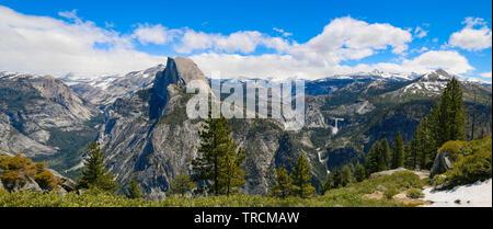 Half Dome, Nevada & Vernal Falls Yosemite National Park, Kalifornien - Stockfoto